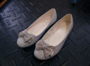 Glittery Shoes With Bow