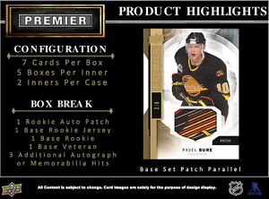 2015-16 Upper Deck Premier Hockey Hobby Trading Cards Box Kitchener / Waterloo Kitchener Area image 3