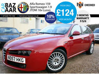 Alfa Romeo 159 Sportwagon 1.9JTDM 16v Lusso+F/S/H+2 OWNERS+CAMBELT CHANGED+2 KEY