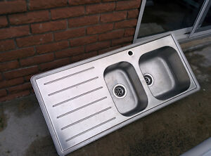 IKEA Emsen stainless steel 1 and 1/2 bowl kitchen sink