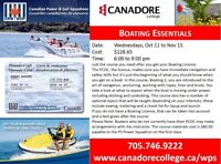 Boating Essentials, Parry Sound, Canadore College