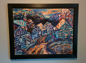 GILLES SIMARD; Tableau Huile; Ste-Anne Charlevoix; 22x28
