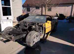 1984 Corvette chassis and gas tank/sending unit.