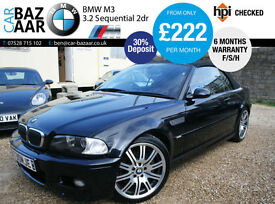 BMW M3 3.2 Sequential+F/S/H+ONLY 2 OWNERS+APPLE PLAY+RED LEATHER+