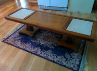Wood and Marble 60's Coffee Table