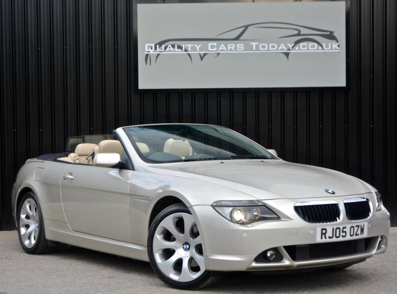 BMW 6 Series 630 i 3.0 Automatic Convertible *Mineral Silver+Cream Dakota Leathe