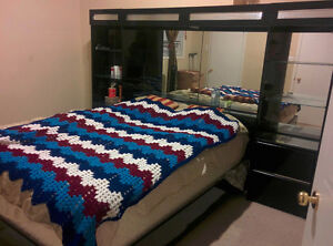 Ashley's Signature Galaxy Bed with Mirrors and LED lights