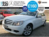 Mercedes-Benz C220 2.1CDI ( s/s ) Blue F 2145cc CDI Executive SE+SAT NAV+