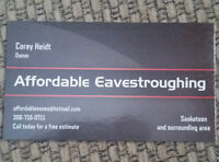 SALE at Affordable Eavestroughing in Saskatoon!!