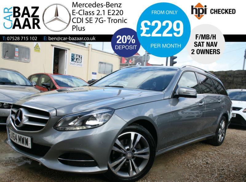 Mercedes-Benz E220 2.1CDI ( 170bhp ) 7G-Tronic Plus CDI SE+F/MB/H+SEPT 18 MOT+