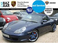 Porsche Boxster S 3.2 auto TiptroniC+G/S/H+JUNE 17 MOT+6 MONTH WARRANTY
