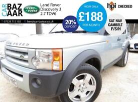 Land Rover Discovery 3 2.7TD V6 auto S+NAV+LEATHER+F/S/H+JUNE MOT