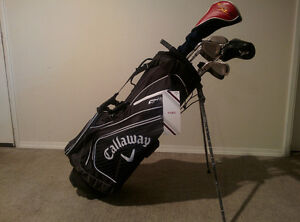 Callaway golf clubs (Razr-x NG) R H with new golf bag.