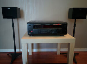 Sony Receiver, 2 speakers and 2 speaker stands