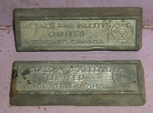 c1800s ingots ingot Toronto Canada Metal Alloys Limited Antique Kingston Kingston Area image 1