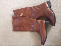 Brand new leather boots from New look