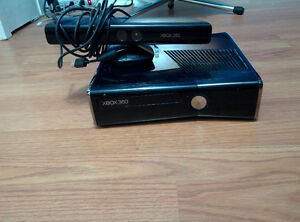 X-box 360 slim 250Gb w/ Kinect and lots of games - $200
