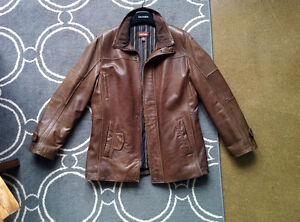 Danier Brown 3/4 Length Leather Jacket