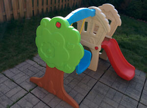 Baby swing and slide.