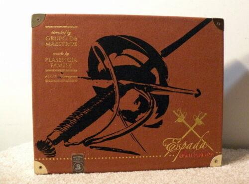 "$5<>Sword<>""Espada"" Wooden Cigar Box By the Plasencia Family<>Steel Corners"