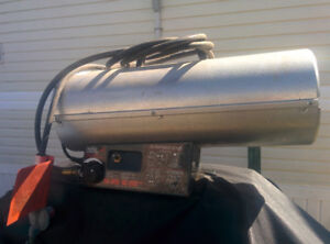Propane heater with tank