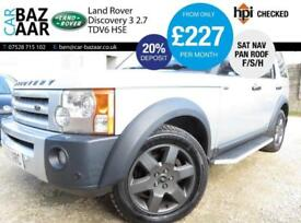 Land Rover Discovery 3 2.7TD V6 auto HSE+F/S/H+PAN ROOF+SAT NAV+SIDESTEPS