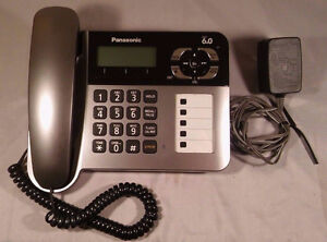 Panasonic Dect 6.0 Base with 1 Corded Phone and 1 cordless phone