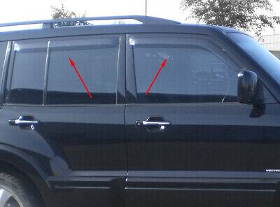 Mitsubishi Shogun LWB Wind Deflectors Tinted Door Visors 2000 - 15