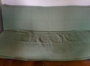 Green futon couch