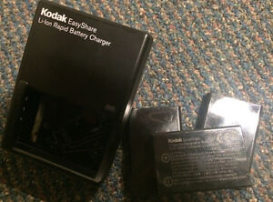 Kodak Easyshare li-ion rapid battery charger with 3 batteries