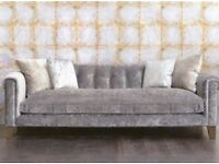 Beautiful Handmade Italian 3 Seater Sofa in Andrew Martin Fabric Velvet