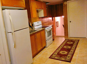 One bedroom Bright & Spacious Basement Apartment for Rent
