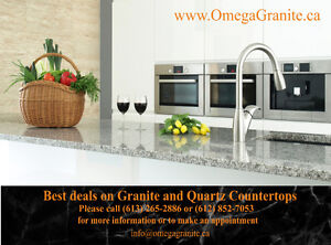 QUARTZ and GRANITE from $28.99 INSTALLED