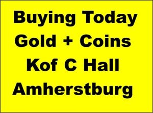 Amherstburg Fri Dec 15Today Buying All Gold Jewelry,Sterling,