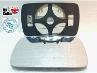PASSENGER SIDE HEATED WING DOOR MIRROR GLASS BMW 3 E46 1998-2005 Clip On
