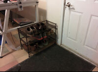 Sturdy 9 Pair Shoe Rack