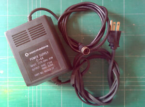 Vintage Commodore 64 Power Supply P/N 902503-02 OEM Black 5VDC 9
