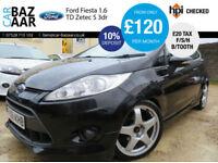 Ford Fiesta 1.6TDCi ( 95ps ) DPF Zetec S+F/S/H+£20 TAX+77 MPG+BLUETOOTH