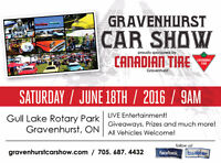 2016 Gravenhurst Car Show sponsored by Canadian Tire Gravenhurst