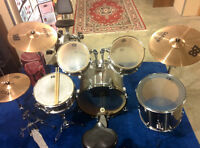 5 Piece CB Drum Set With Sabian Cymbals