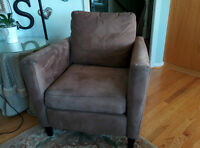 Jaymar Nu-Suede Sectional Couch and Chair