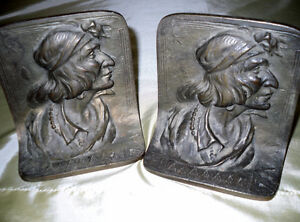 Cast Iron Bookends of Native Canadian Windsor Region Ontario image 1