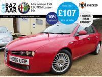 Alfa Romeo 159 1.9JTDM 16v Lusso+1 OWNER+F/S/H+JUNE 18 MOT+