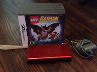 Red Nintendo DS Lite w/ Charger and 5 Games