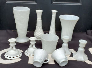 Vintage Assorted Milk Glass Collection