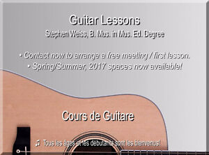 Guitar Lessons, West Island - Beginners to Advanced Levels! West Island Greater Montréal image 1