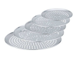 "10X10"" Aluminium Pizza Pans With Non-Stick Round Perforated Holes"