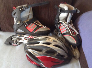 Roller Blades + Helmet for 30$