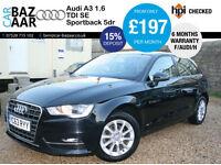 Audi A3 1.6TDI Sportback SE+F/AUDI/H+£0 TAX+1 OWNER+2 KEYS