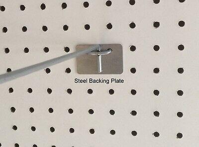 100 Pack Peg Hook Steel Backing Plate For Reinforcement Of Pegboard Hooks